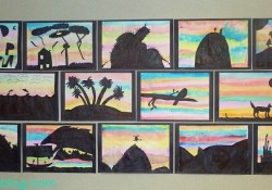 Sunset Silhouettes: An Art Lesson that will Wow!